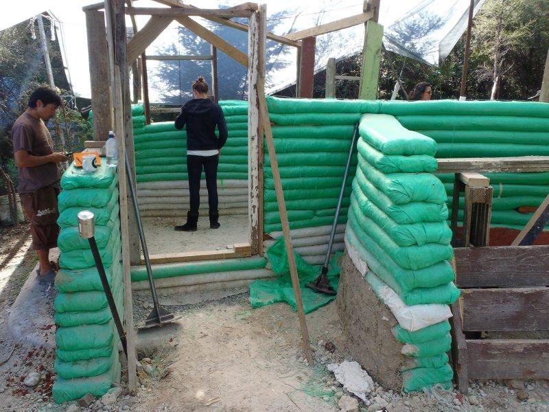 Earthbag House at Awhi Farm
