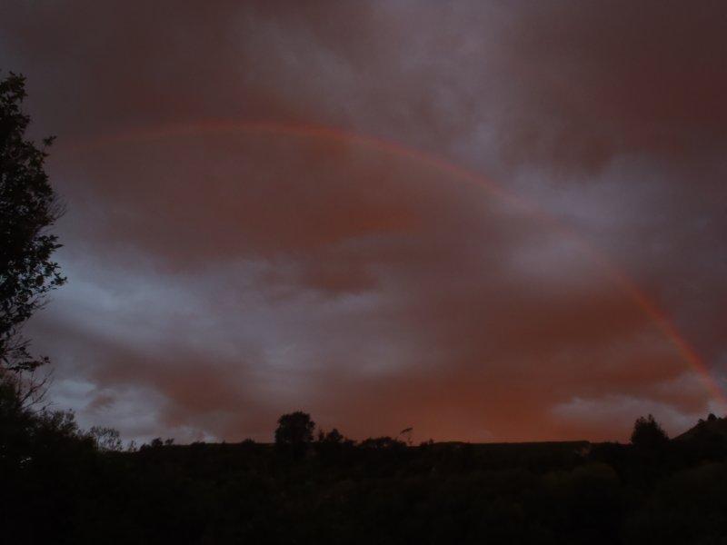 Sunset Rainbow at Ohinepane Rec Reserve