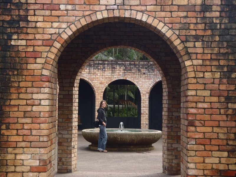 Brick Arches at Hamilton Gardens