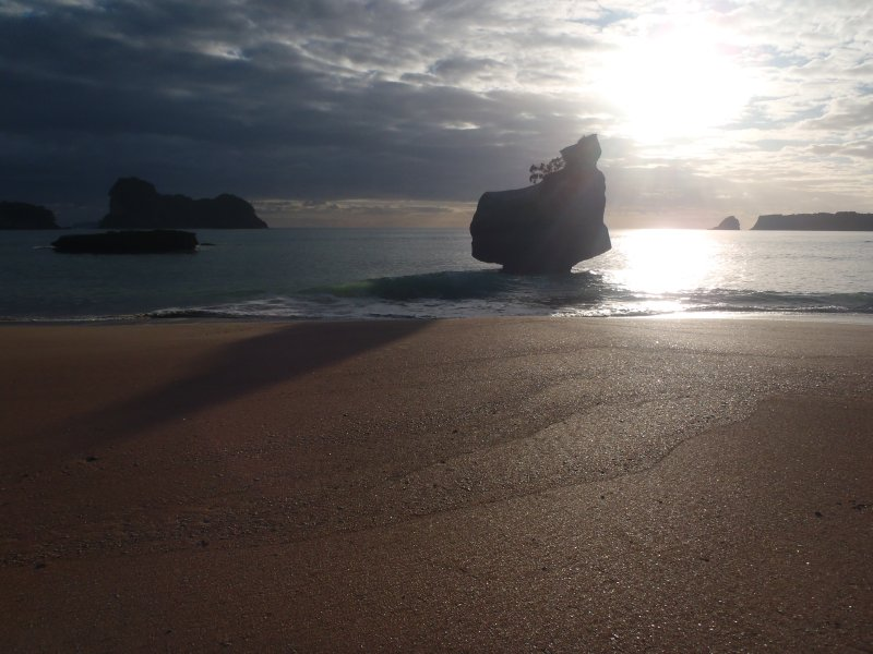 Sunrise at Cathedral Cove