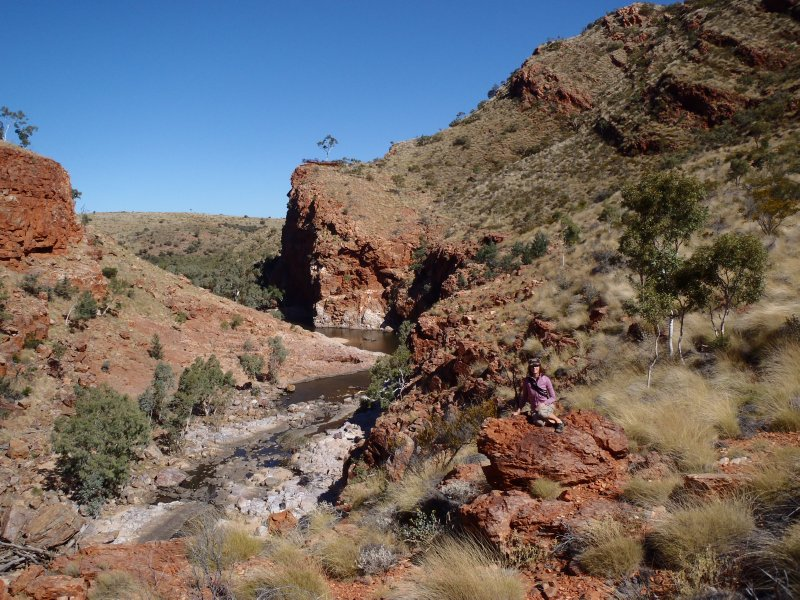 Julie Relaxing in Ormiston Gorge
