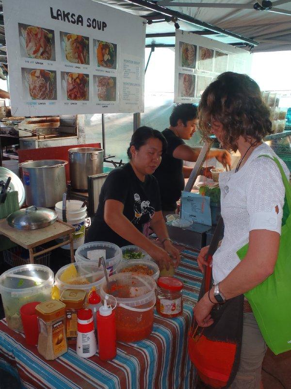 Julie Ordering Laksa