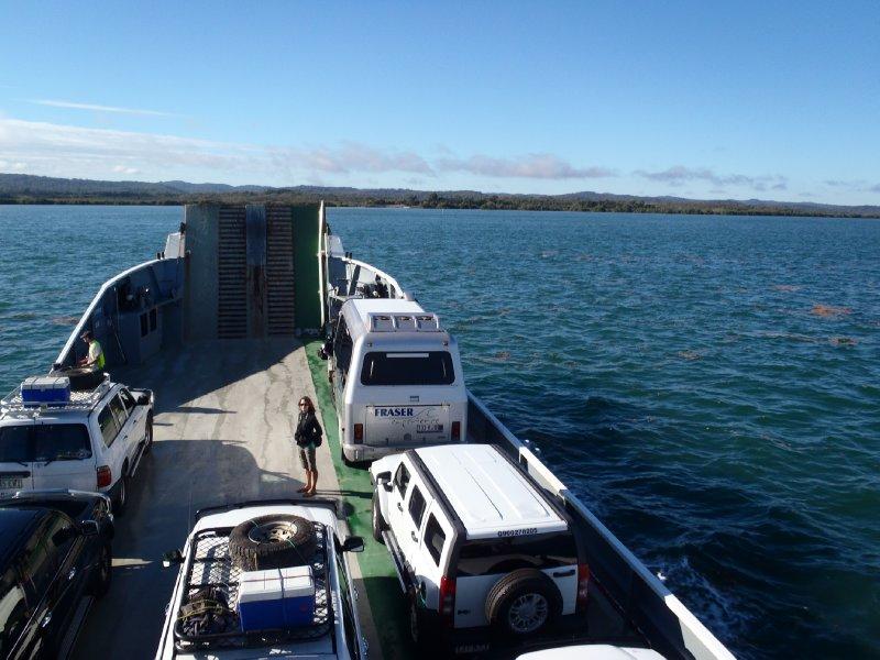 Heading to Fraser Island