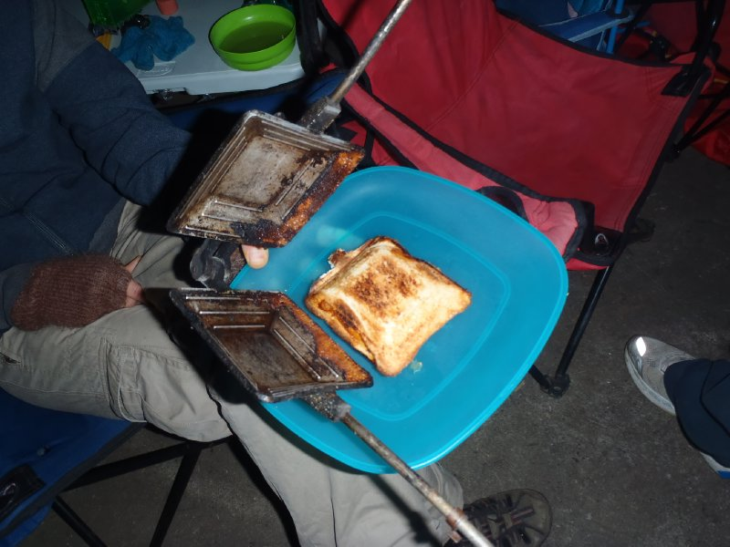 Jaffle Iron Goodies at Nightcap NP