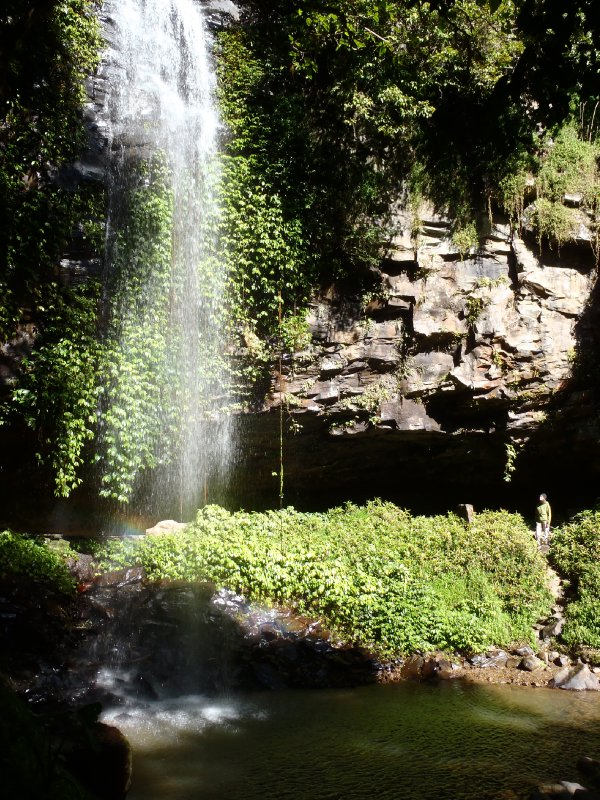 Julie and Crystal Shower Falls in Dorrigo NP