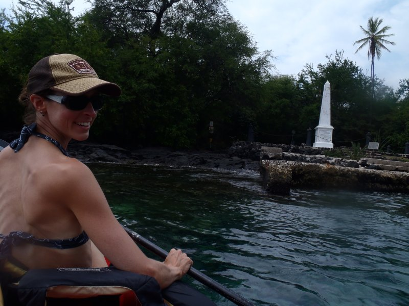 Kayaking to Captain Cook Monument