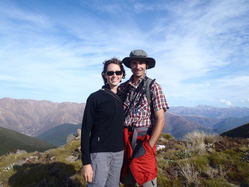 Nate and Julie Hiking Gordon's Knob