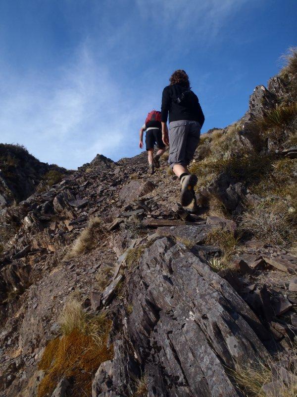 Julie and Bob Hiking The Knob