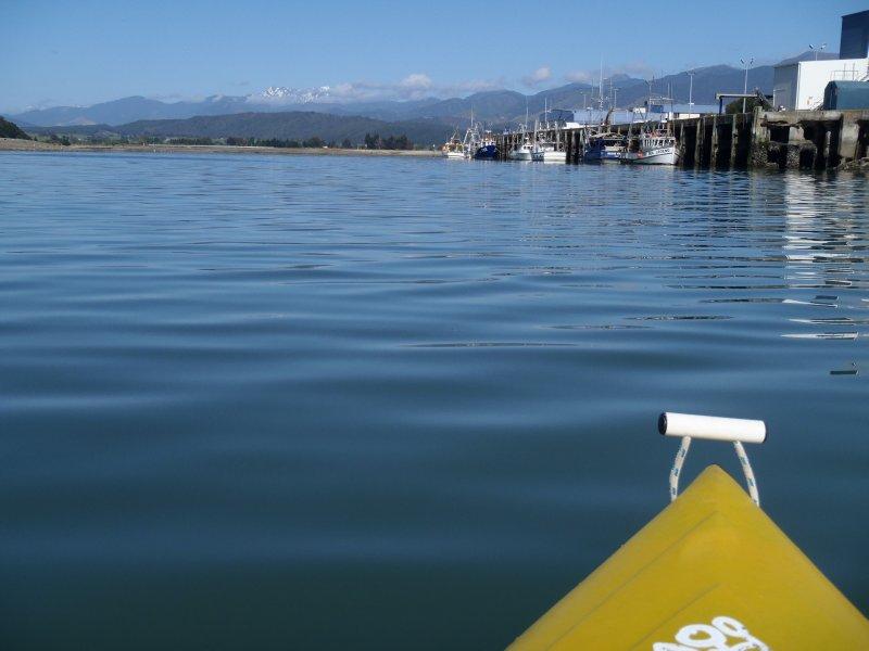 Kayaking into Port Motueka