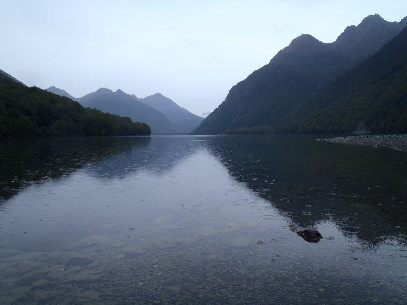 Morning Rain at Lake Gunn