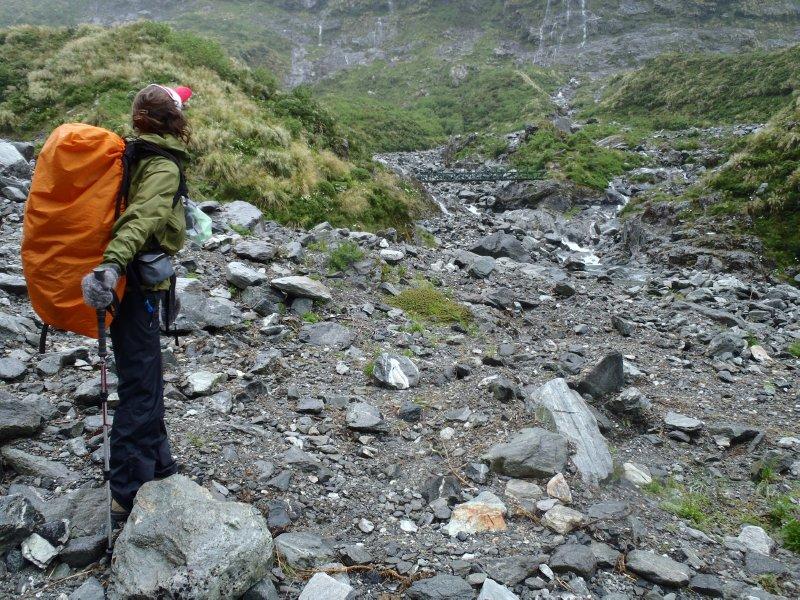 Looking Back at Mackinnon Pass