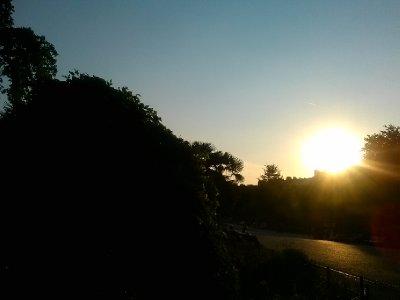 ...sunset in parc de monceau (around 10pm)...