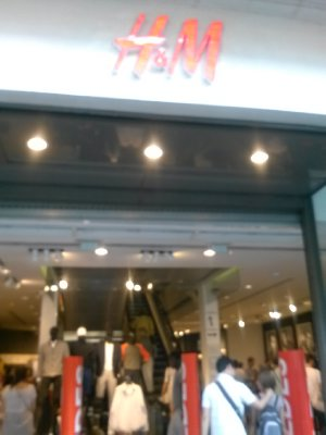 Had to check out H&M in Paris