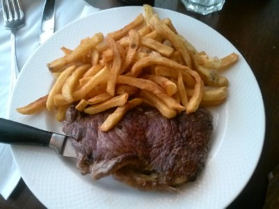 steak and fries lunch...sweeeet