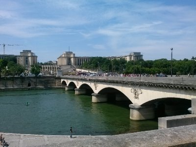 Seine river across from Eiffel Tower