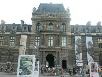 the Louvre museum entrance