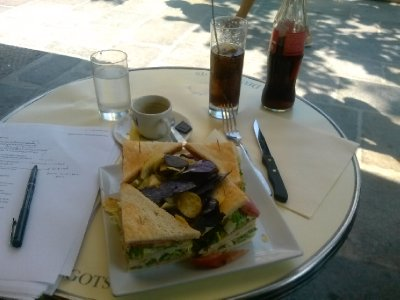 Lunch at Les Deux Margots