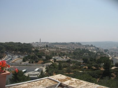 view of Jerusalem from the roof of the Truman Institute for Peace