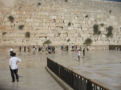 The Western Wall (men's side...oops)