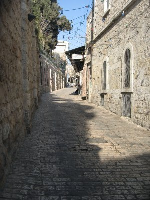 walking home on the Via Dolorosa