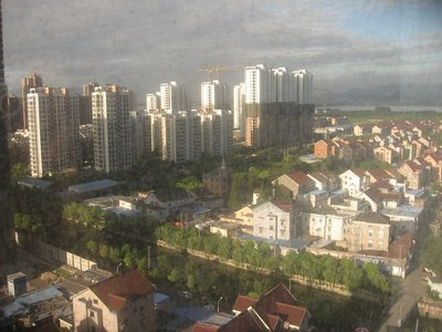 Hangzhou from my hotel window