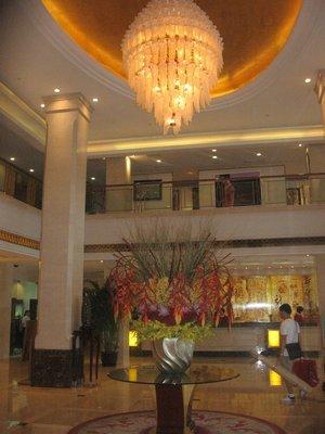 i love this hotel lobby in Shanghai