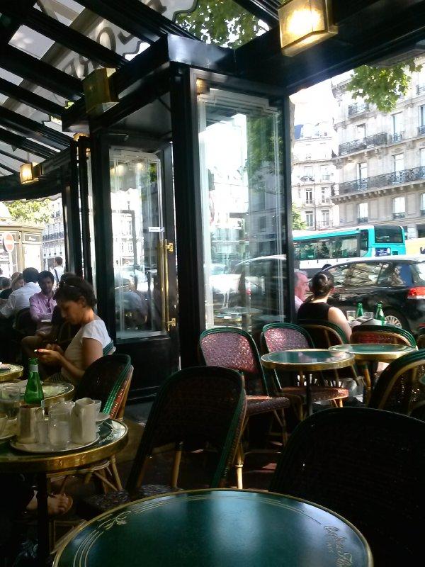 Inside Cafe de Flor