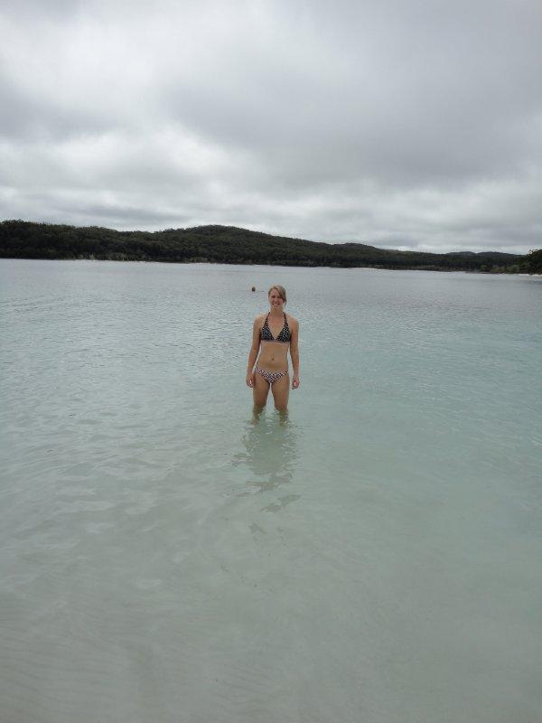 Zwemmen in Lake McKenzie