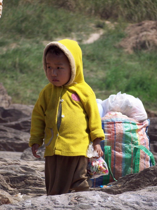 Lao Child Along the Mekong River