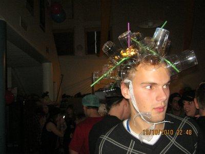 Al added straws to his head! lol