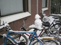 My 1st snowman on my bike!