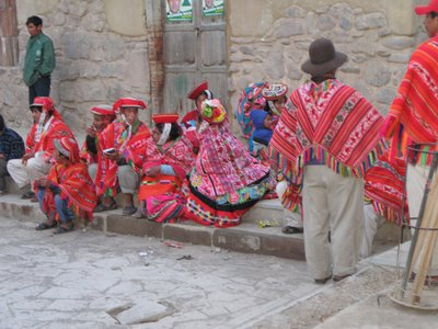 Villagers in Ollantaytambo