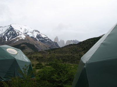 The Torres del Paine over my tent