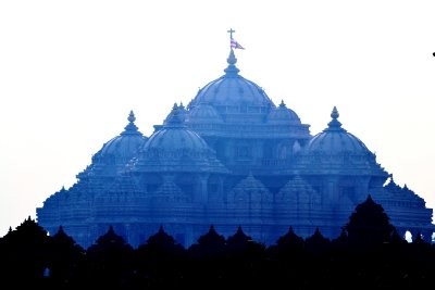 Akshardham Temple - from a long way away!!!