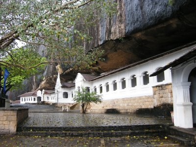 The entrance to the Cave Temples at Dambulla