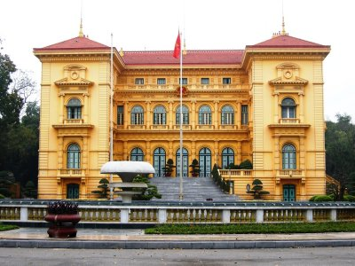 The magnificent Presidential Palace in Hanoi