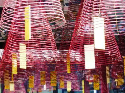 Incense sticks made to look like lanterns