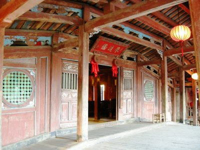 The Temple inside the Japanese Covered Bridge