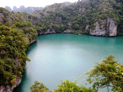 The emerald green lagoon of Angthong National Marine Park