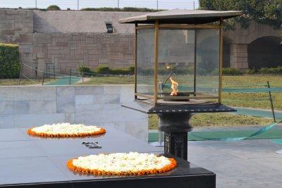 Raj Ghat - Gandhi's cremation site