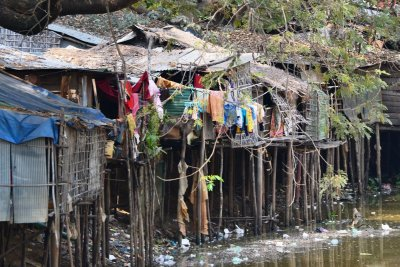 Slums on the river bank