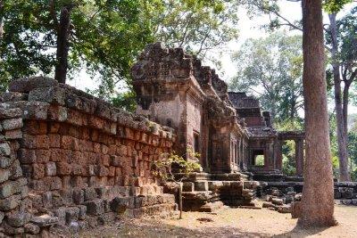 Atmospheric ruins at the rear of Angkor Wat