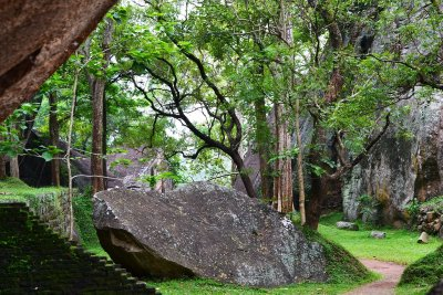The Boulder Garden at Sigiriya