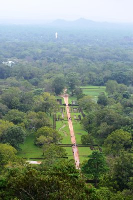 The view from atop Sigiriya rock