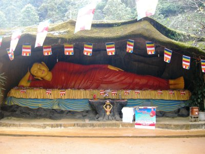 The Reclining Buddha at the foot of Adam's Peak