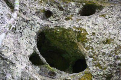 A burial chamber cut into the rock face