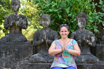 The amazing Buddha Park in Vientiane, Laos