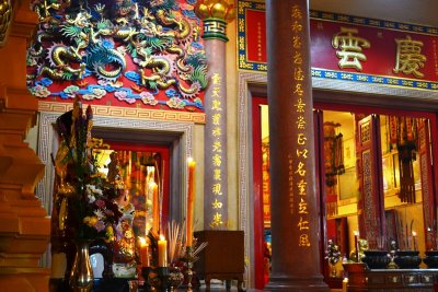 The front of the Tien Fa Charity Foundation Temple in Bangkok