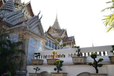 Some of the incredible buildings of the Golden Palace of Bangkok