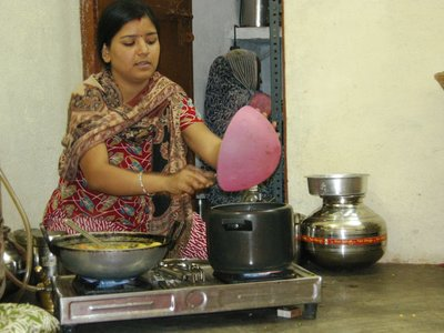 Our Indian cooking teacher